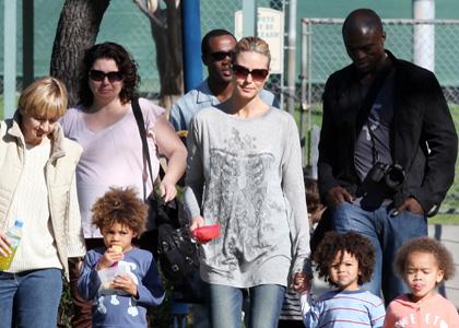 heidi klum children pictures. Heidi Klum with Seal and kids.